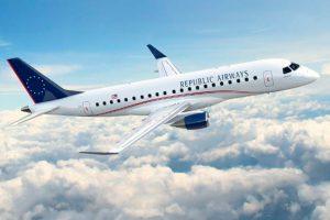 Embraer y Republic Airways cierran un pedido por 100 E175