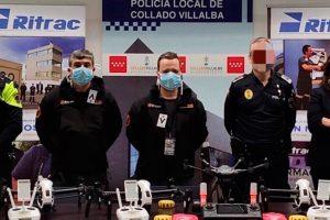 Policia de Villalba, drones, RPAS, Ritrac