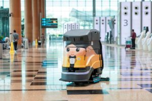 robot limpieza, Aeropuerto