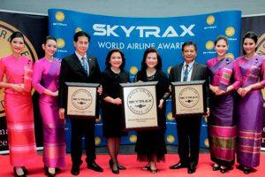 THAI es reconocida con tres galardones Skytrax