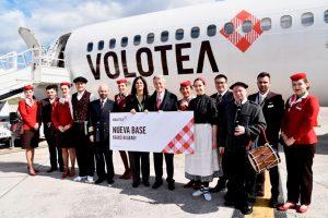 Volotea cuadriplica sus pasajeros con su nueva base en Bilbao