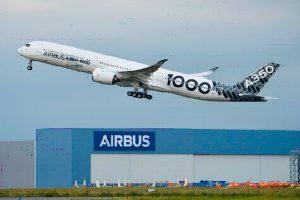 Vuelo preliminar de larga distancia del A350-1000